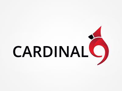 Cardinal 9 logo bird brand cardinal