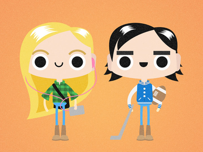 Millenials illustration vector characters