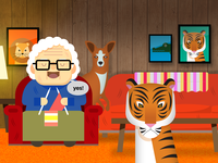 Grandma loves wild animals