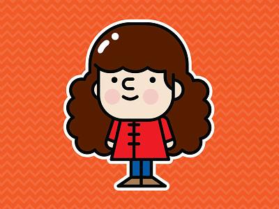 Cutie Pie character illustration vector