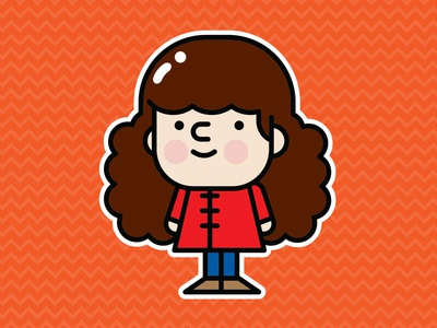 Cutie Pie character illustration vector