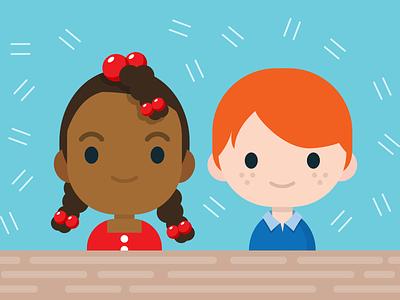 Cute Kids vector character design illustration