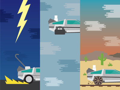 BTTF Monday Exercise vector illustration scifi