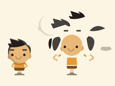 Deconstructed Character vector illustration