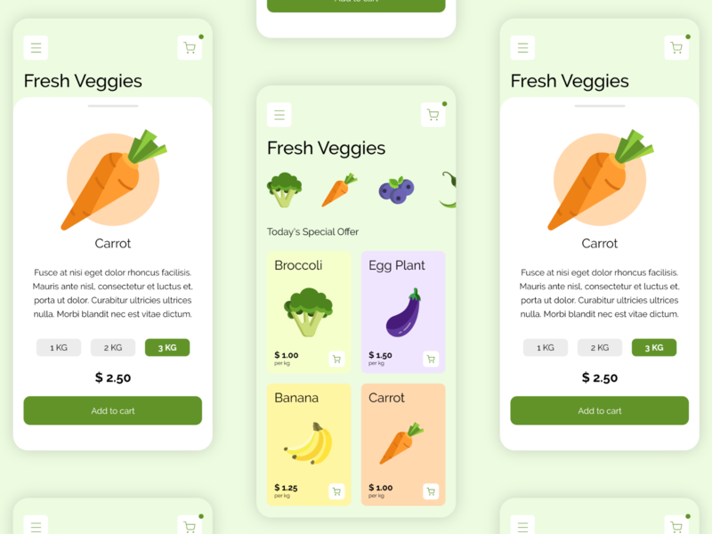 Veggies Shop App app ui design mobile ui app ui ui design mobile app tutorial adobe xd madewithadobexd adobexd