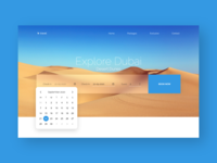 Travel Website with Calendar Control Form in Adobe XD adobexd calendar control website design prototype ux ui madebyadobexd travel website design travel website ui