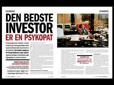 Psyopath Investor financial typography art direction magazine design design