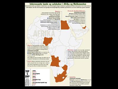 Investing in Africa information graphic typogaphy graphic design financial magazine design art direction