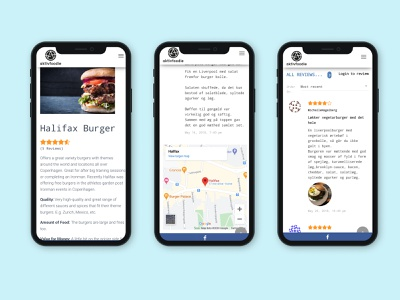 ActiveFoodie User Pages mobile ui ui design