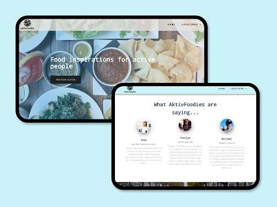 AktivFoodie desktop - planning from home wordpress code foodie travel responsive web design ui