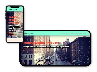 marciPapineau.com mobile design desktop webdesign design ui