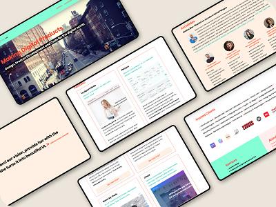 marciPapineaudotCom webdesign desktop design