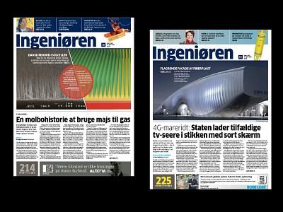 Engineering Newspaer Front Pages newspaper design graphic design art direction design