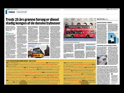 Diesel Gas king of Danish Buses information design newspaper art direction design