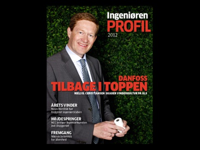 Danfoss art direction design magazine cover