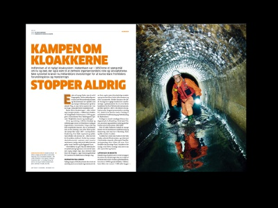 Fighting for the Danish Sewers newspaper design art direction design