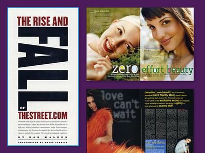 Finance and Beauty typography magazine design art direction design