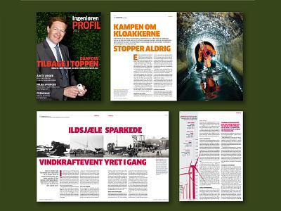 Danish Engineering Magazine, Profil typography graphic design magazine design art direction design