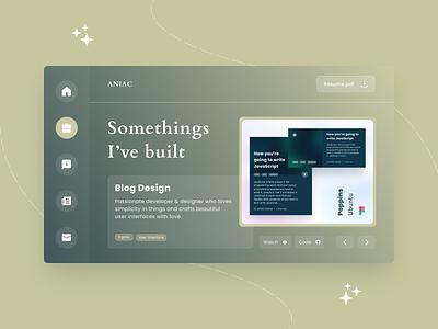 Portfolio Page dashboard ui portfolio design ux ui web design