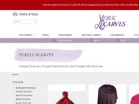 Purple Scarves website screenshot