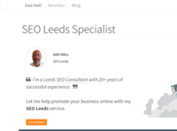 SEO Services page I created