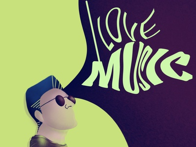 ilovemusic graphic digital minimal illustration digital drawing illustration art illustration flat character design character