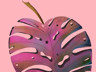 Purple leaf procreate art procreateapp nature illustration leaf graphic flat illustration art digital illustration digital illustration drawing