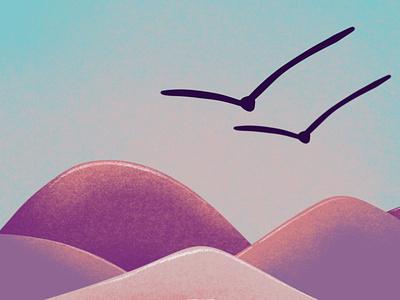 Fantasy land landscape illustration landscape design landscape minimal illustration art digital illustration digital illustration drawing