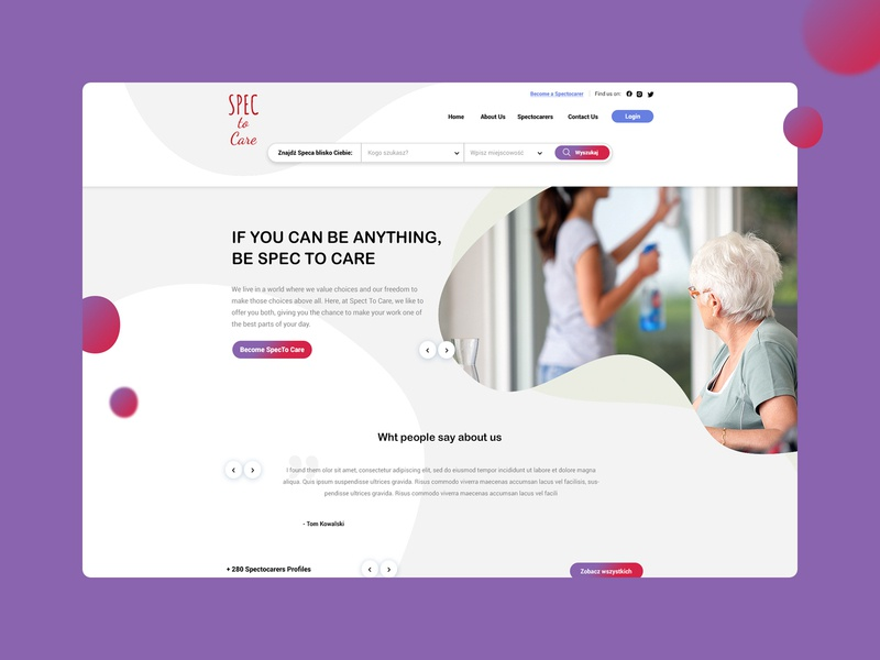 Spec to Care Landing Page