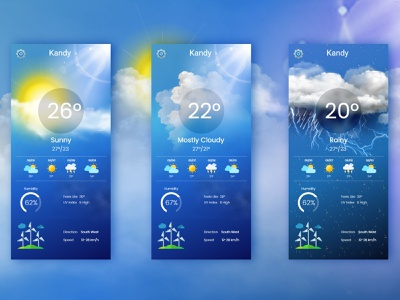 Weather App information forcast user friendly user interface easy simple blue ux ui