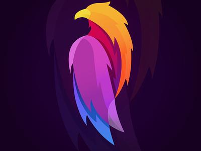 Bird simple illustration bird pet colorful purple mascot simple adobe illustrator illustrator