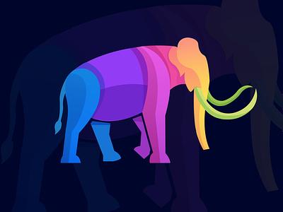 Tusker vector illustration concept logo tusker elephant colorful mascot illustrator illustration vector art