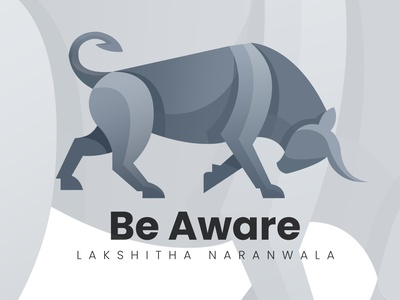 BullAware simple be awre bull illustration design illustration art work illustrator