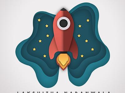 Rocketx simple sky night vector illustrator rocket boost