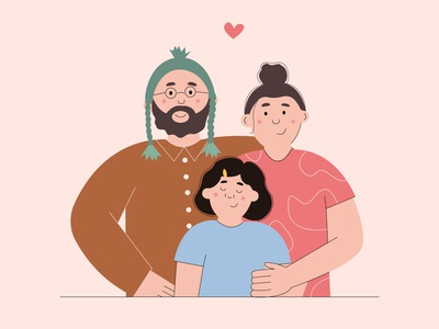 family portrait bright colors illustrator minimal children illustration book illustration illustration art children family illustration vector illustration
