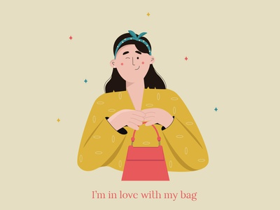In love with this bag digital illustrator bright colors brand design minimal art minimalist 2d illustration flat illustrator brand identity brand illustration girl illustration illustration art minimal illustration