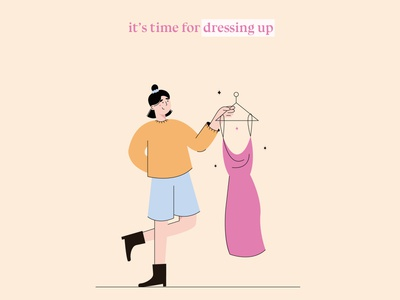 it's time for dressing up funny character flat illustrations illustration illustrator bright colors character illustrator illustration art 2d illustration flat illustrator vector minimal