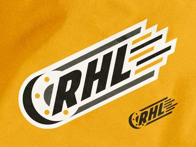Hockey League Branding puck branding logo emblem hockey illustration sports
