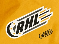 Hockey League Branding puck branding logo emblem hockey illustration sports