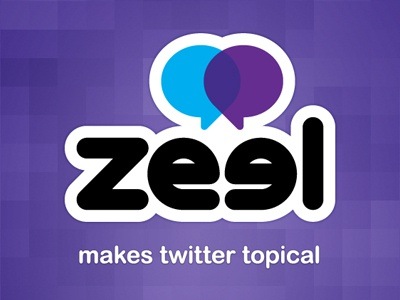 Zeel Branding branding logo twitter app bubbles purple blue pixelated