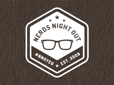 Nerds Night Out Logo logo logo design retro badge nerd glasses crest branding twitter