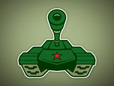 Hockey Team Tank Logo vector tank illustration logo sports hockey branding emblem green star perspective