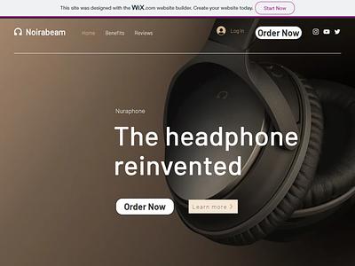 Headphones LP ui headphones coming soon page coming soon wordpress blog branding landingpage website design website wordpress web wixiweb wix