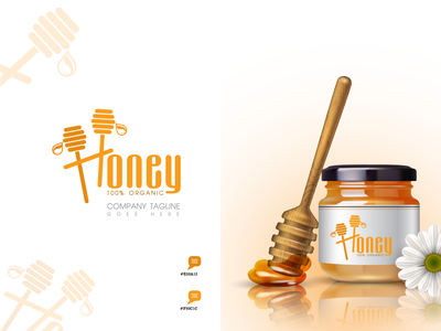 HONEY LOGO vector app icon branding graphic design illustration typography minimal logo