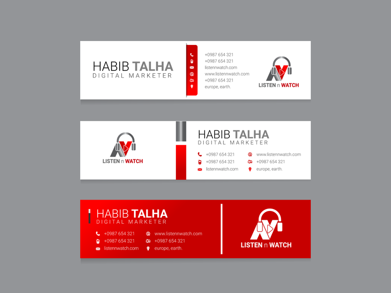 E-mail Signature design business card design web logo design facebook ads design flyer design minimal brochure design graphic design branding