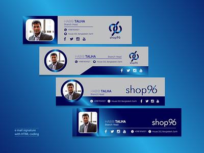 Email Signature with HTML coding web design illustrator ui logo icon brochure design branding graphic design minimal