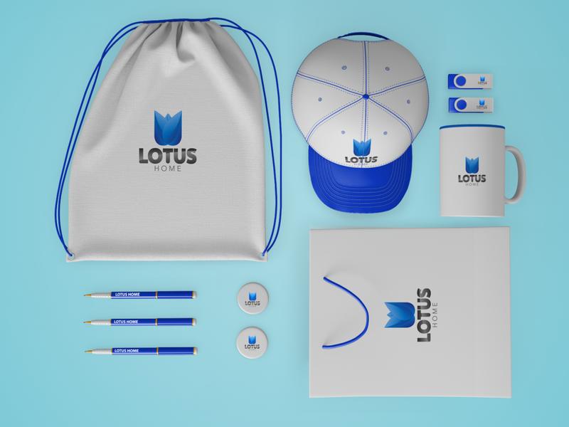 Lotus Home brand identity ui design icon flyer design minimal brochure design typography logo graphic design branding