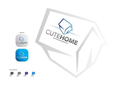 CuteHome | Real Estate Logo icon app design facebook ads design graphic design brochure design minimal typography logo branding