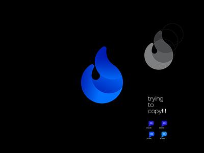 d letter logo practice work web design app icon graphic design flyer design minimal branding typography logo