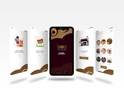 Book Vegas | Online Book Shop Logo graphic design branding typography vector icon ux ui illustration minimal logo